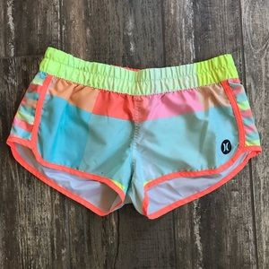 🎈Hurley neon color block board shorts Sz M